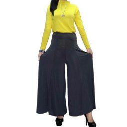 Celana Kulot Muslimah Warna Abu Tampak Depan