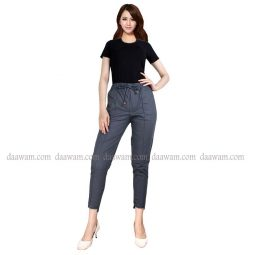 Celana Baggy Pants,Warna Abu Tampak Depan