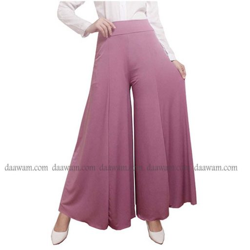 Celana Kulot Muslimah Warna Lavender Tampak Depan