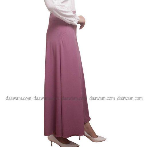 Celana Kulot Muslimah Warna Lavender Tampak Samping
