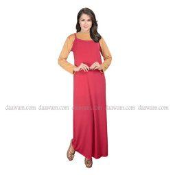 Gamis Tanktop Wanita Warna Merah Cabe Tampak Depan