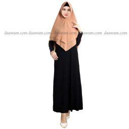 Hijab Khimar Pet Warna Bata Tampak Depan