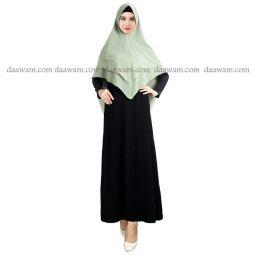 Hijab Khimar Pet Warna Hansip Tampak Depan