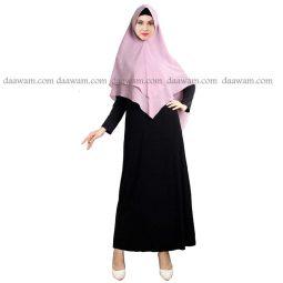 Hijab Khimar Pet Warna Lavender Tampak Depan