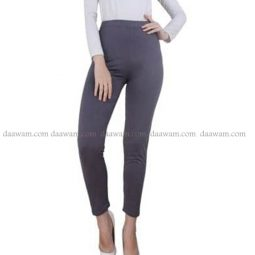 Legging Panjang Bahan Jersey Ukuran Besar Warna Coklat Abu