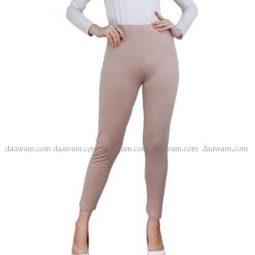 Legging Panjang Bahan Jersey Ukuran Besar Warna Coklat Susu